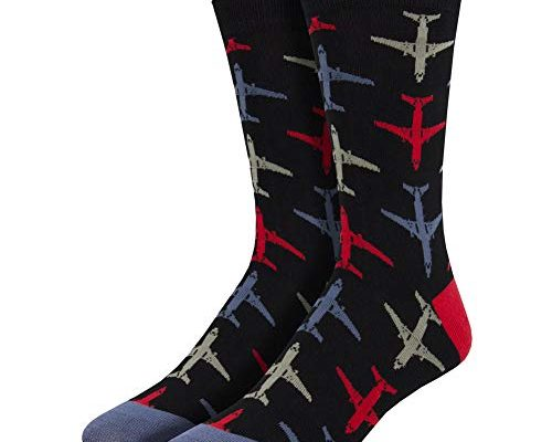 Mens Dress Socks With Airplanes